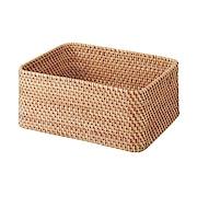 可重叠长方形藤编篮子 约26×36×16cm