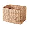 可重叠长方形藤编篮子 约26×36×24cm