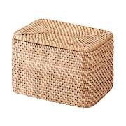 可重叠长方形藤编篮子 约18×26×16cm