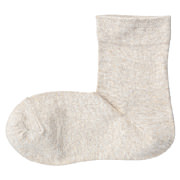 棉混袜口宽松皮筋直角袜