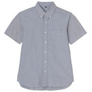 牛津棉水洗纽扣领短袖衬衫